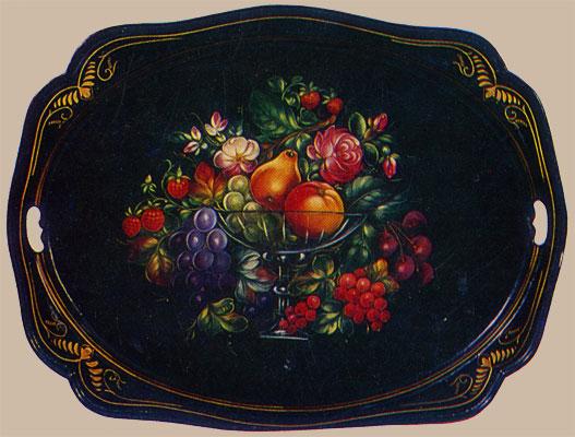 Поднос крылатый - Ваза с фруктами и цветами